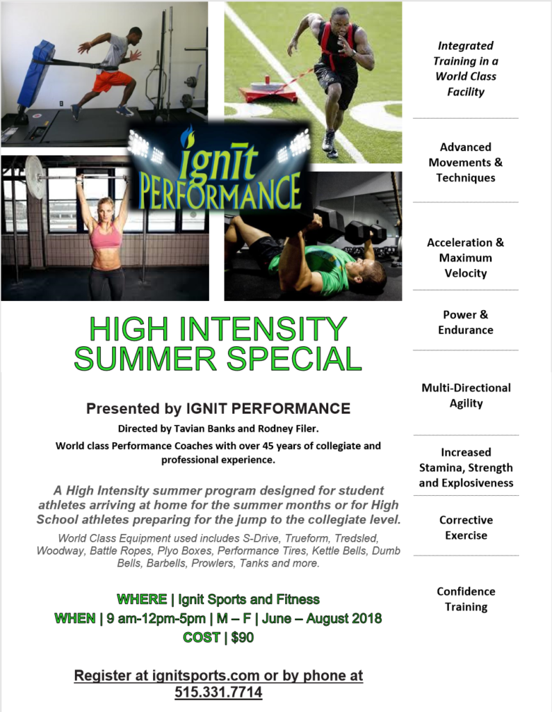2018 High Intensity Summer Special – Ignit Sports and Fitness